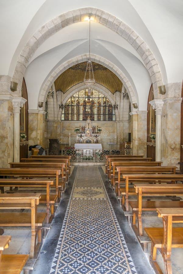 Binnenland van Kerk van de Flagellatie royalty-vrije stock foto's