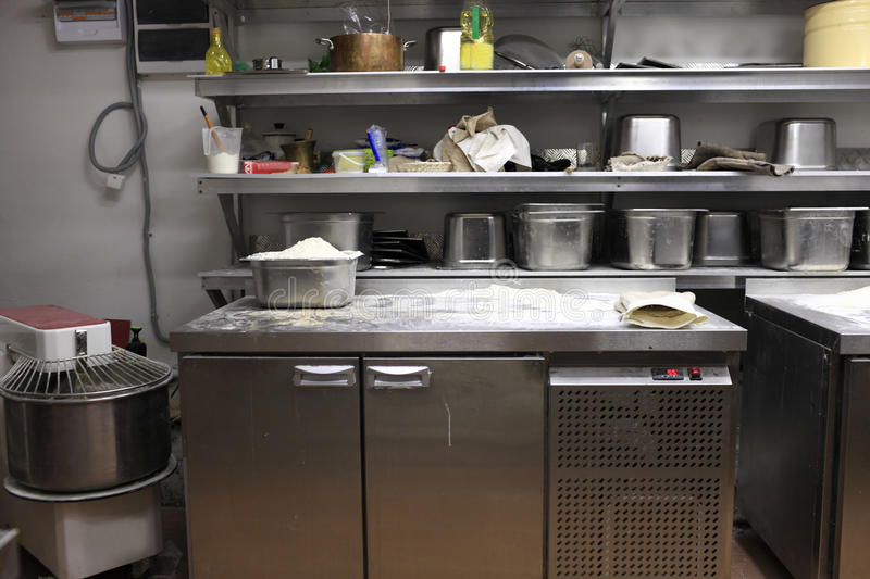Binnenland van keuken stock foto
