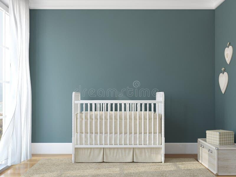 Binnenland van kinderdagverblijf. stock illustratie