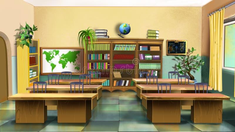 Binnenland van Klaslokaal Front View vector illustratie