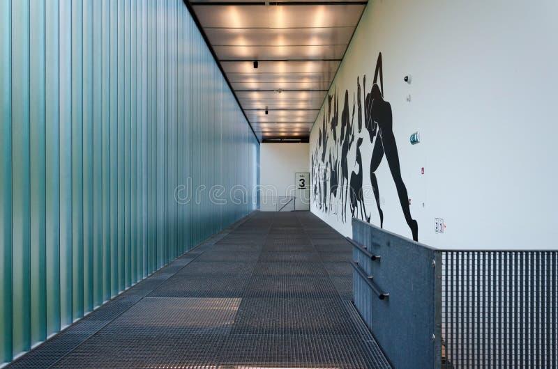 Binnenland van Kunsthal-museum in Museumpark, Rotterdam royalty-vrije stock foto