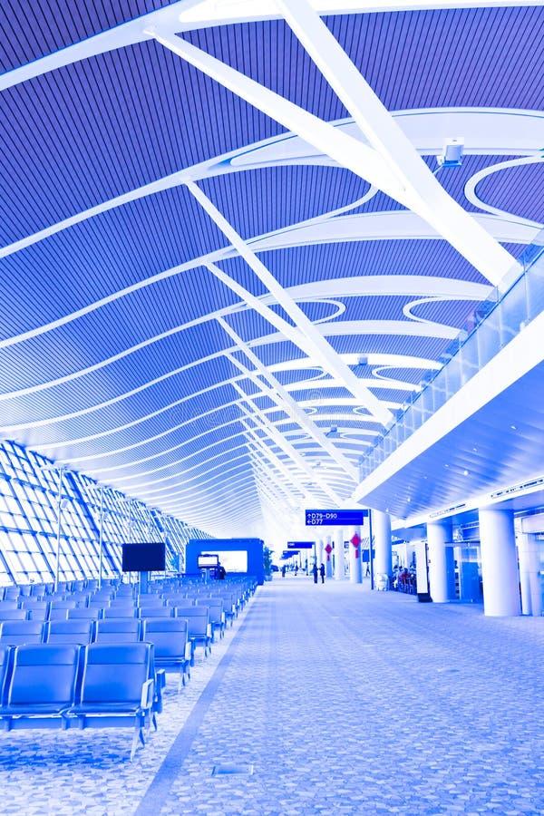 Binnenland van luchthaven royalty-vrije stock fotografie
