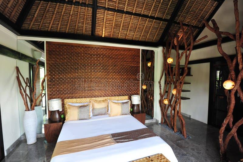 Binnenland van luxe tropische villa royalty-vrije stock foto's