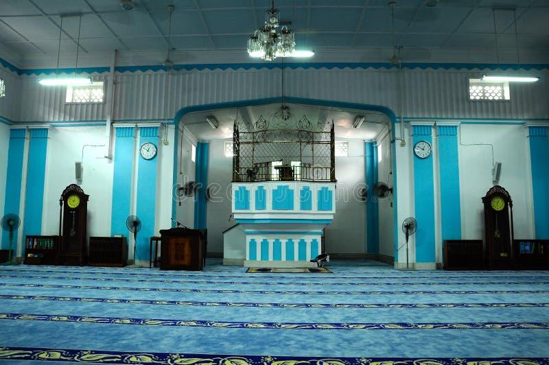 Binnenland van Masjid Jamek Dato Bentara Luar in Batu Pahat, Johor, Maleisië royalty-vrije stock foto