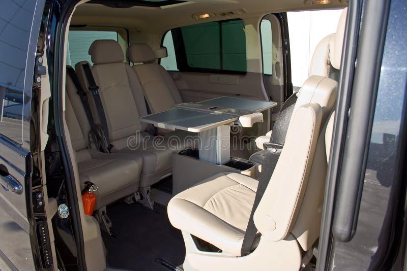 Binnenland van minivan royalty-vrije stock foto