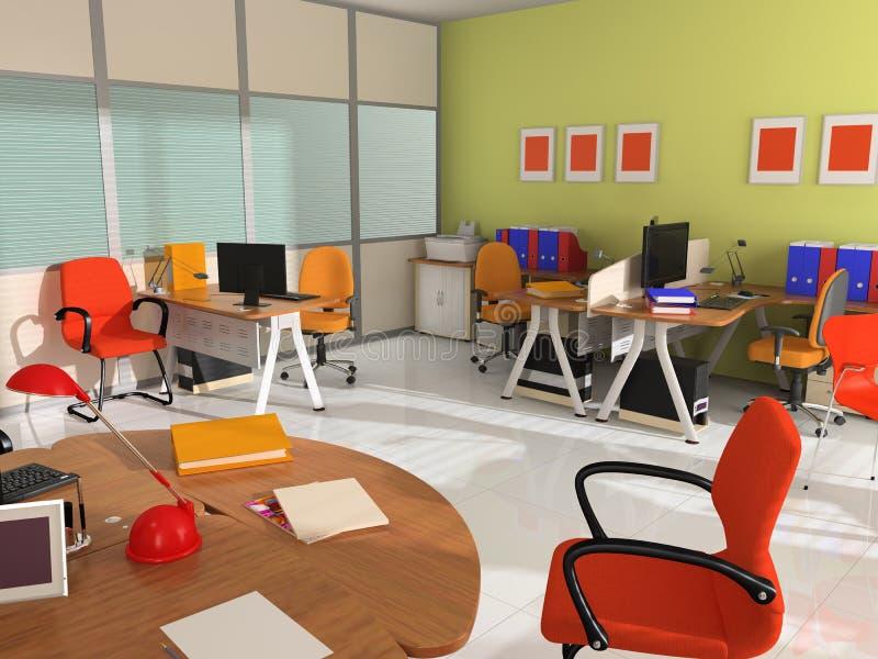 Binnenland van modern bureau