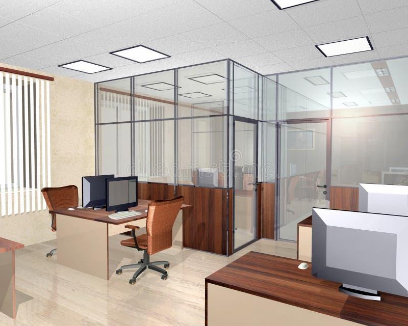 Binnenland van modern bureaugebouw stock fotografie