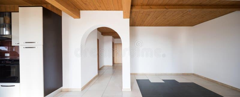 Binnenland van modern huis, niemand binnen royalty-vrije stock afbeeldingen