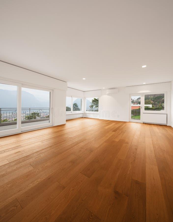 Binnenland van moderne flat, woonkamer royalty-vrije stock afbeelding