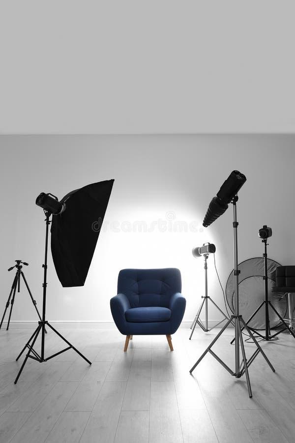 Binnenland van moderne fotostudio royalty-vrije stock foto