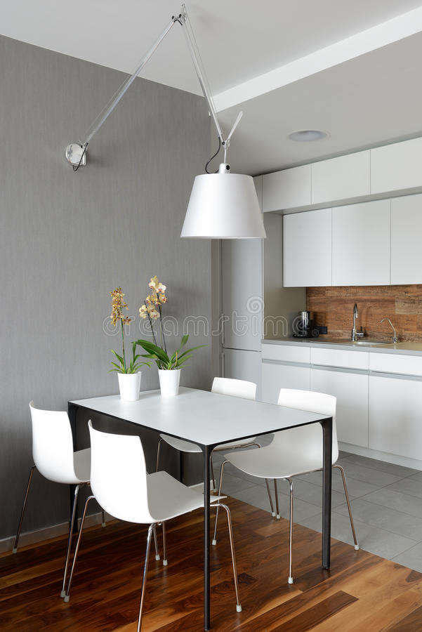 Binnenland van moderne keuken stock afbeelding
