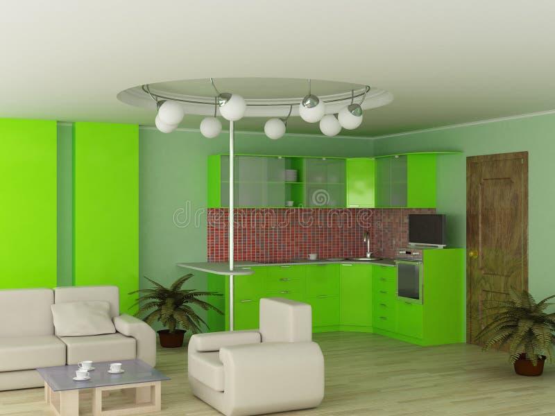 Binnenland van moderne keuken. vector illustratie