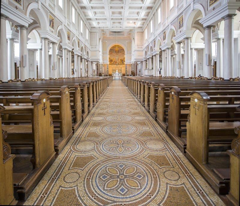 Binnenland van Mullingar-Kathedraal Ierland stock afbeelding