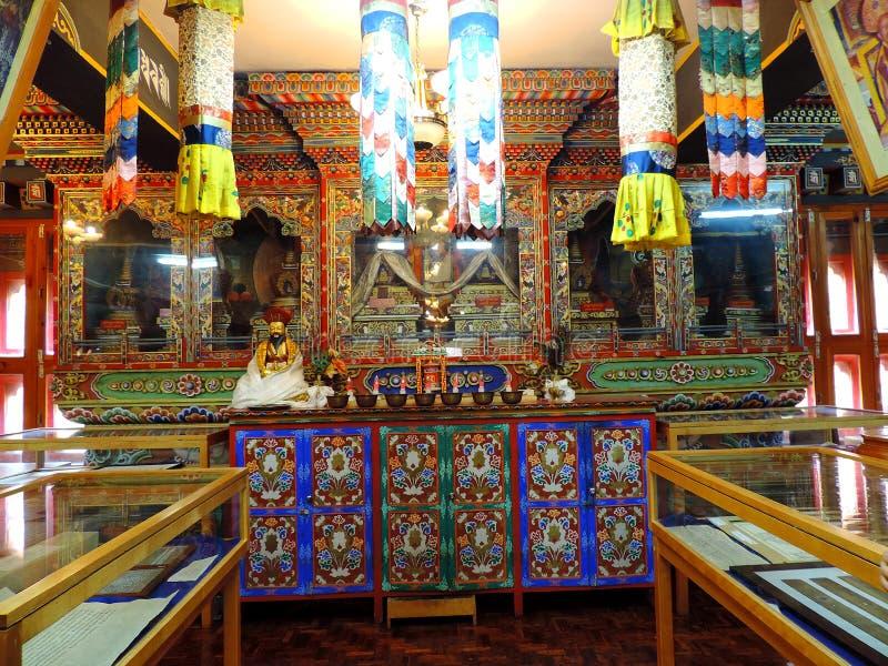 Binnenland van Nationale Bibliotheek van Bhutan, Thimphu royalty-vrije stock fotografie