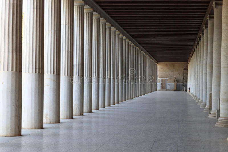 Binnenland van Oud Agora stock fotografie