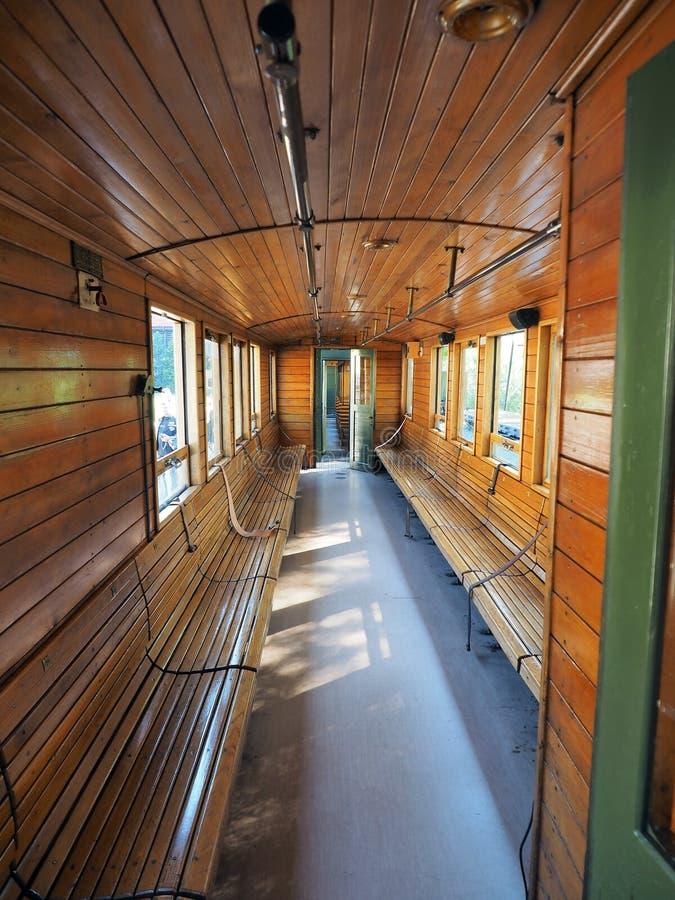 Binnenland van oud treinvervoer royalty-vrije stock foto