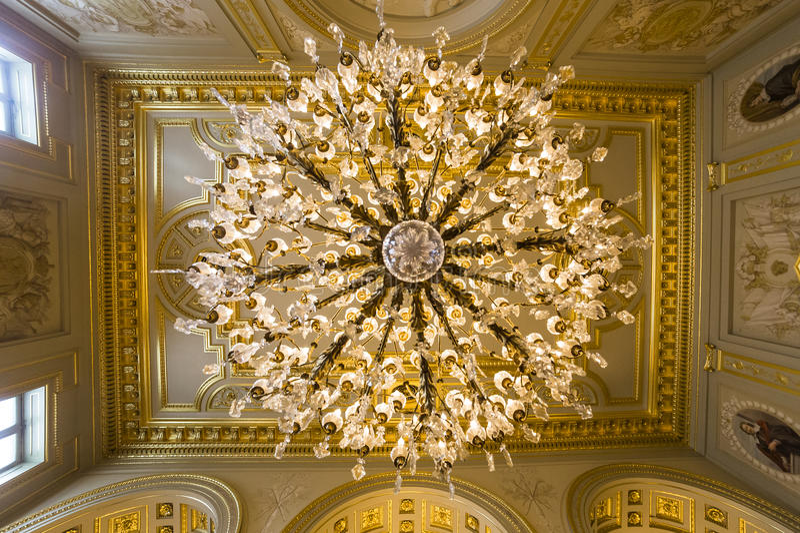 Binnenland van Royal Palace, Brussel, België stock afbeeldingen