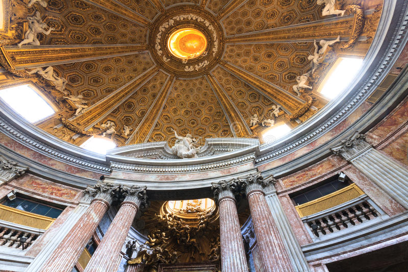 Binnenland van Sant' Andrea al Quirinale royalty-vrije stock fotografie