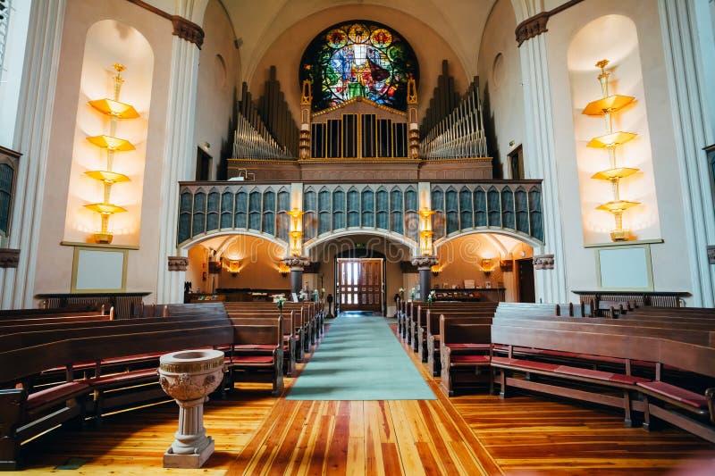 Binnenland van Sofia Kyrka - Sofia Church In royalty-vrije stock fotografie