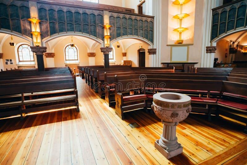 Binnenland van Sofia Kyrka - Sofia Church In stock afbeelding