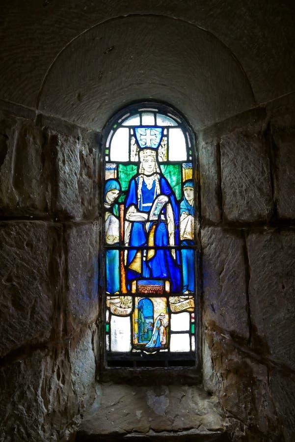 Binnenland van St Margaret ` s Kapel, Edinburgh schotland royalty-vrije stock foto