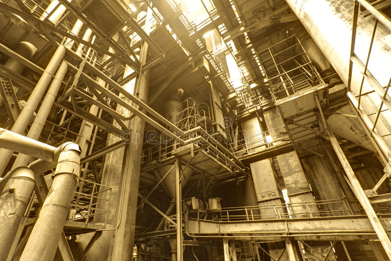Binnenland van staalfabriek royalty-vrije stock afbeelding