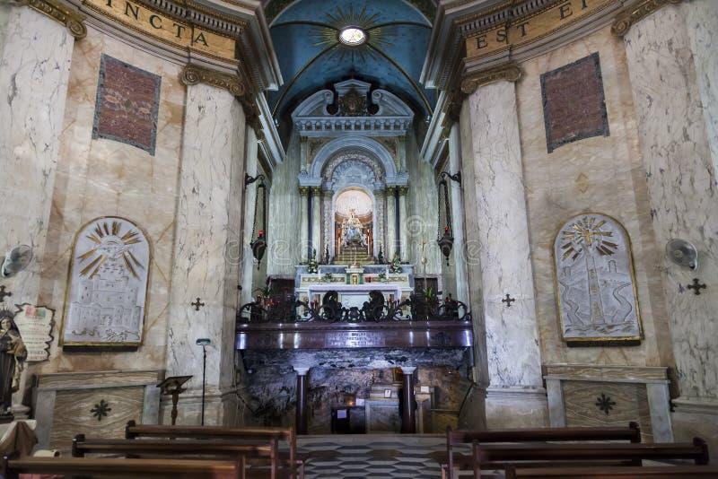 Binnenland van Stella Maris Church haifa israël royalty-vrije stock afbeelding
