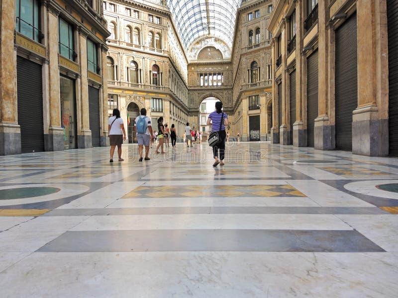 Binnenland van Umberto de IST-Galerij, Napels royalty-vrije stock afbeeldingen