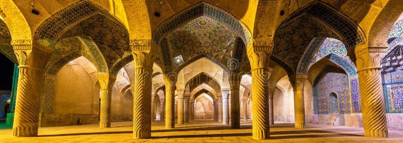 Binnenland van Vakil-Moskee in Shiraz, Iran royalty-vrije stock foto