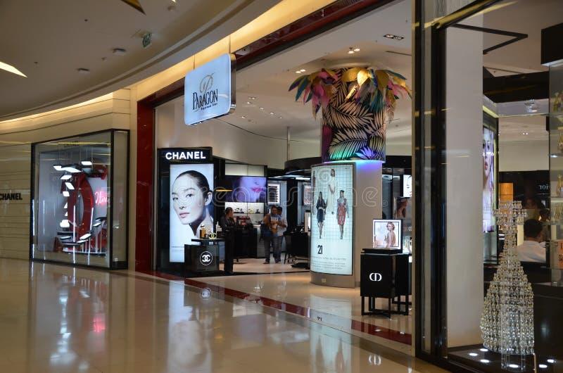 Binnenland van winkelcomplex Siam Paragon stock afbeeldingen
