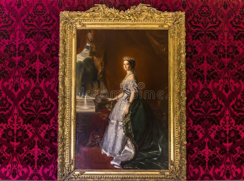 Binnenlanddetails van het Louvremuseum, Parijs, Frankrijk royalty-vrije stock fotografie