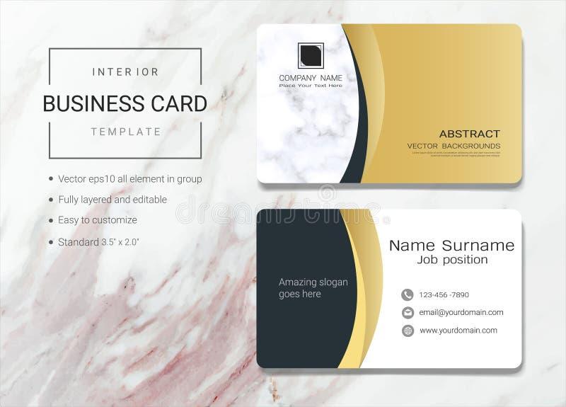 Binnenlands adreskaartje of van de naamkaart malplaatje stock illustratie