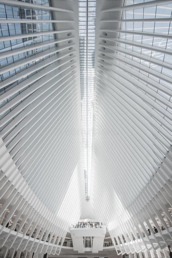 Binnenlands atrium van Oculus New York royalty-vrije stock foto's