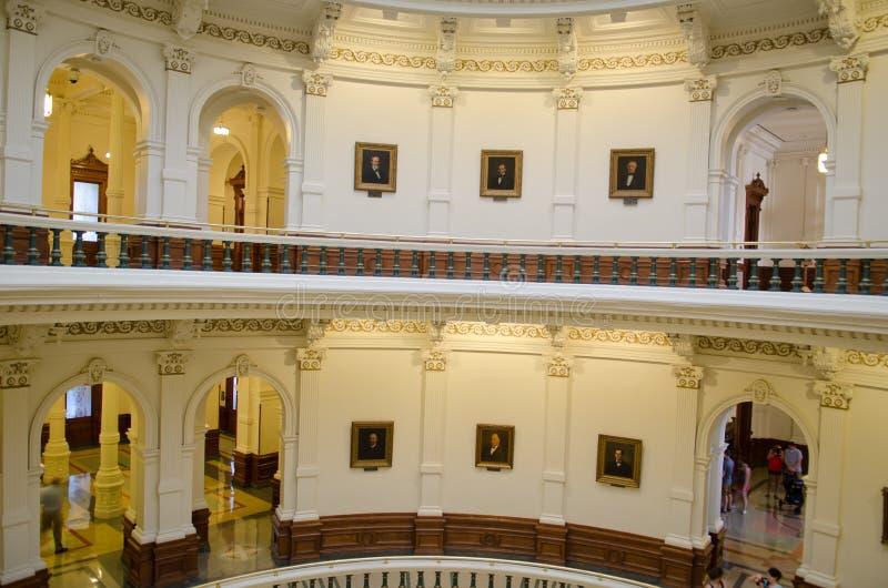 Binnenlands bekijk Texas State Capitol-de bouw stock fotografie