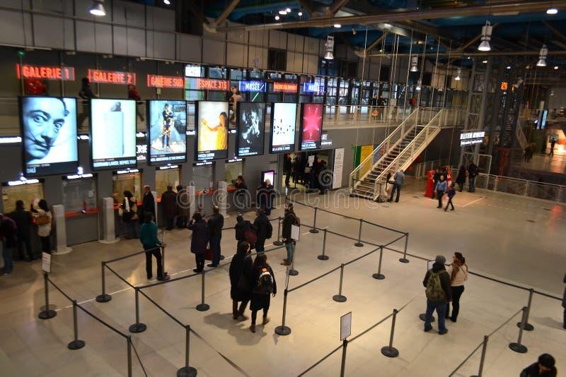 Binnenlands Centre Pompidou in Parijs royalty-vrije stock afbeelding