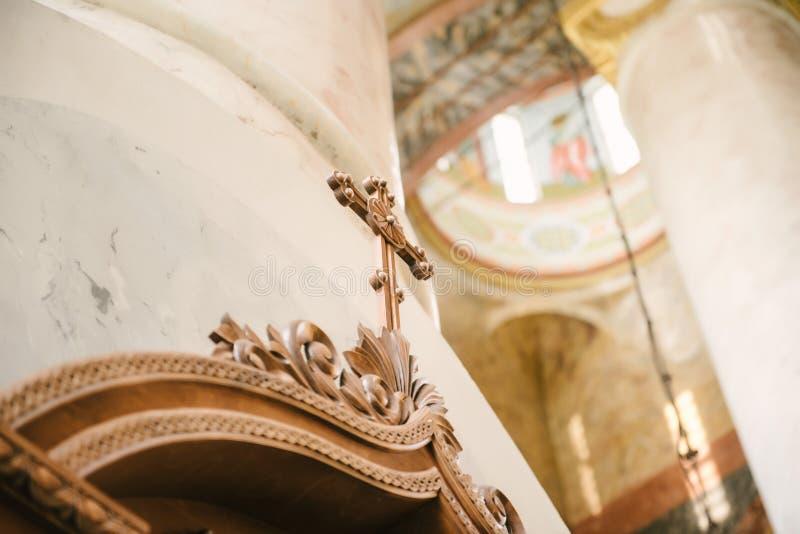 Binnenlands en binnenlands van de kerk royalty-vrije stock fotografie