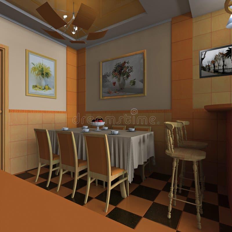 Binnenlands het dineren gebied royalty-vrije stock afbeeldingen