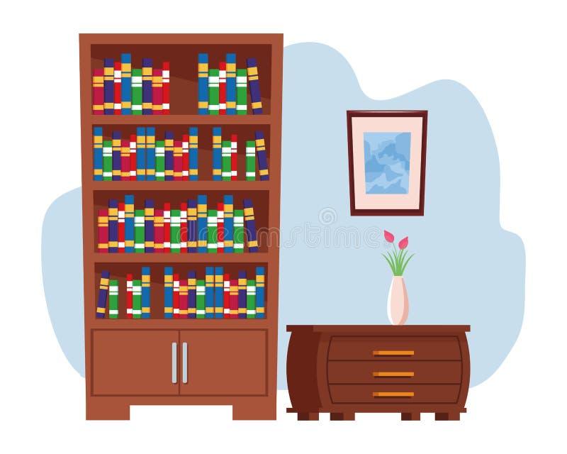 Binnenlands het pictogrambeeldverhaal van het meubilairhuis royalty-vrije illustratie
