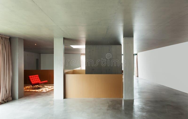 Binnenlands huis, concrete muur stock afbeeldingen