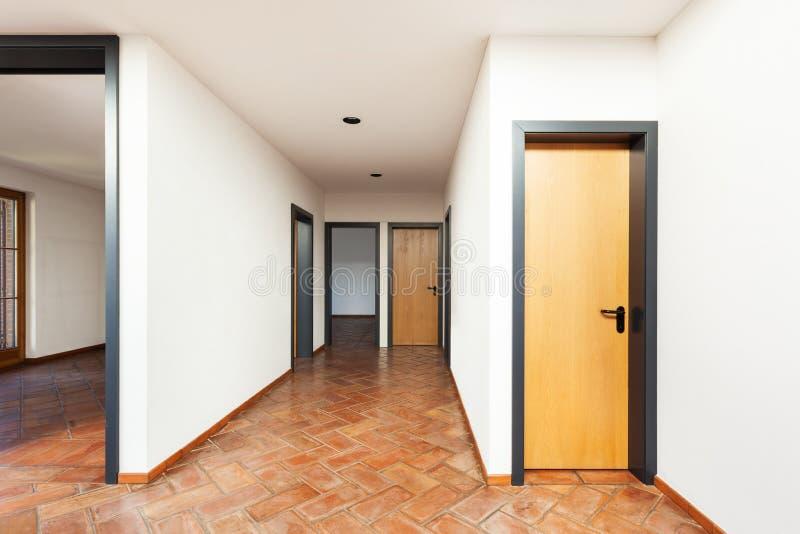 Binnenlands huis, zaal stock fotografie