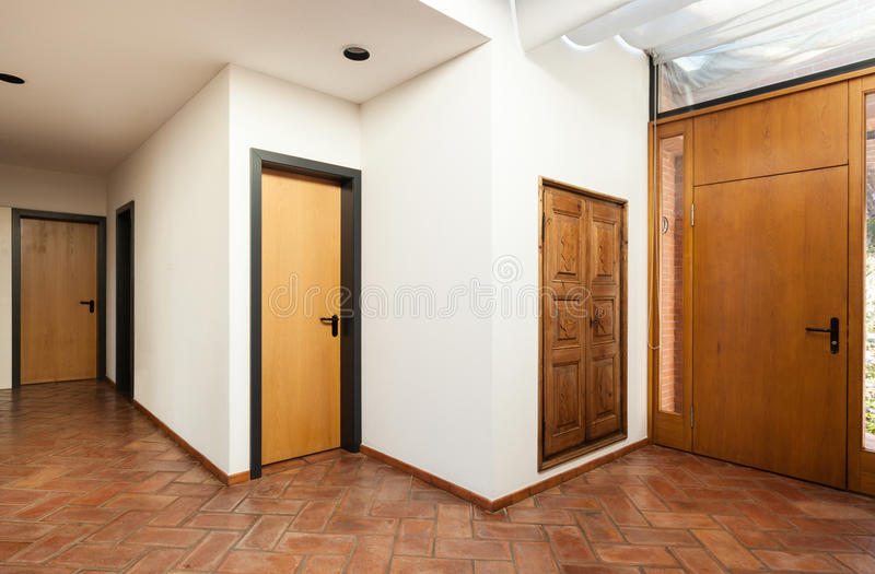 Binnenlands klassiek huis, ingang stock afbeelding