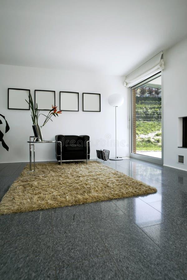 Binnenlands modern baksteenhuis royalty-vrije stock foto