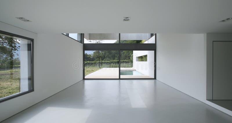 Binnenlands modern huis stock foto's