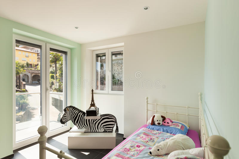 Binnenlands modern huis, ruimte royalty-vrije stock foto