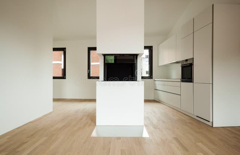 Binnenlands nieuw huis stock foto's