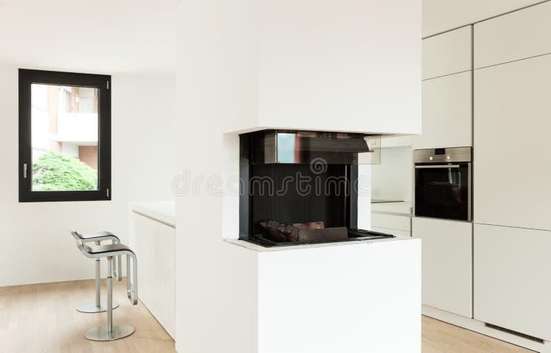 Binnenlands nieuw huis stock fotografie