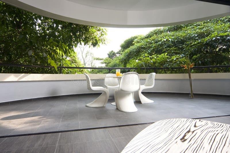 Binnenlands ontwerp - balkon royalty-vrije stock foto's