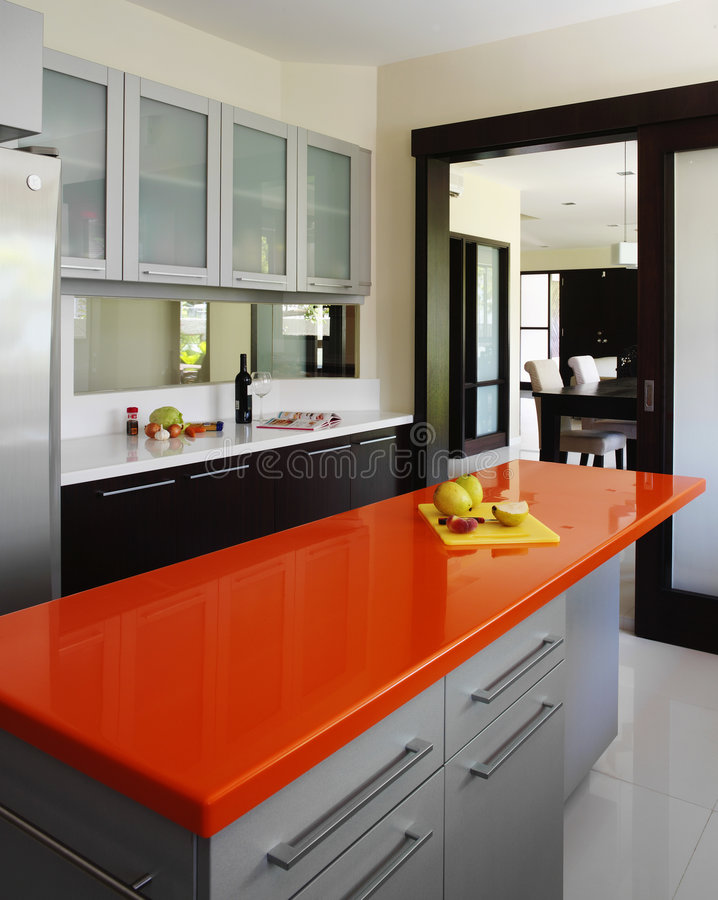 Binnenlands ontwerp - keuken stock afbeeldingen