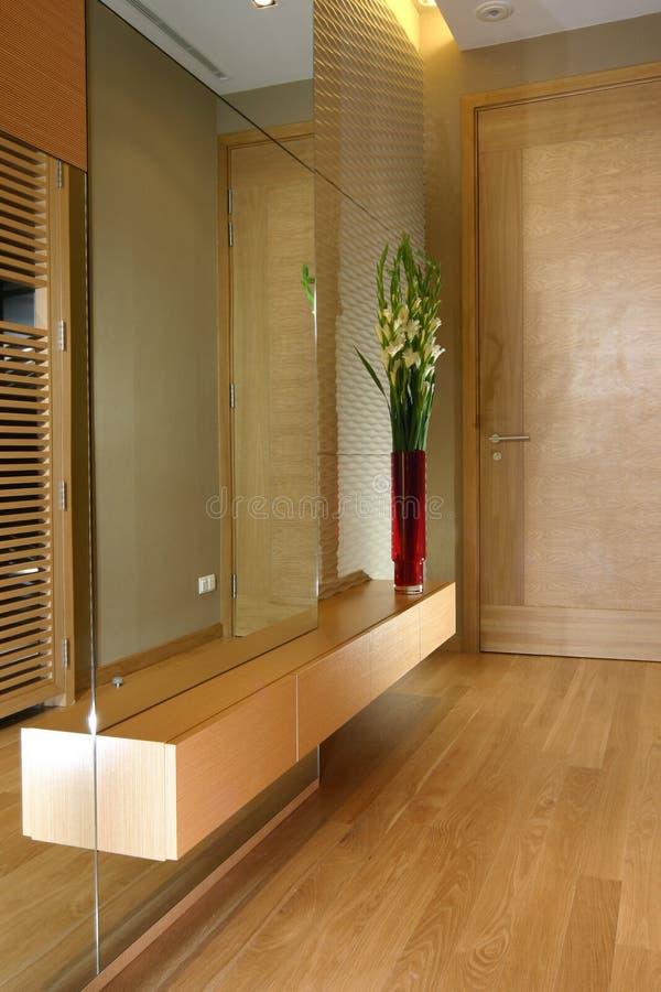 Binnenlands ontwerp - lounge stock afbeelding