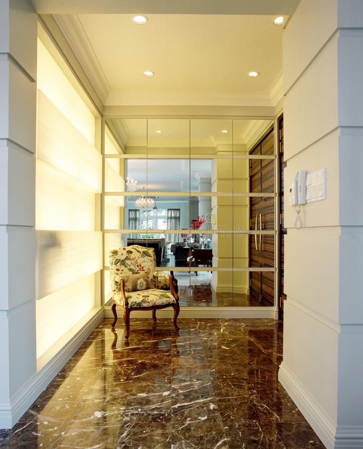 Binnenlands ontwerp - loungegebied royalty-vrije stock afbeelding